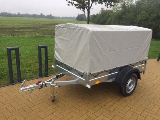 Přívěsný vozík BORO 205x110 s plachtou a konstrukcí