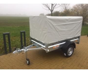 Sklopný přívěsný vozík TRIGANO 205x114 s vysokou plachtou -