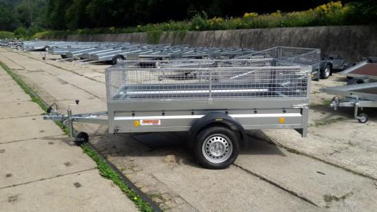 .Sklopný přívěsný vozík TRIGANO 236x129 se Síťovou nástavbou